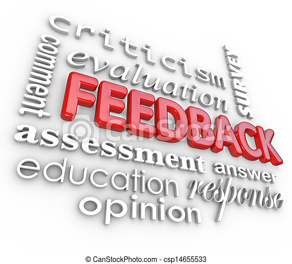Feedback 3D Word Collage Evaluation Comment Review - csp14655533