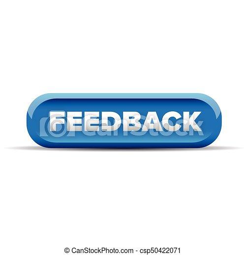 Feedback button blue vector - csp50422071