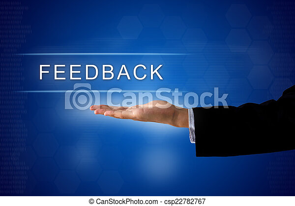 feedback button on virtual screen - csp22782767