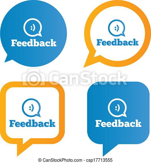 feedback speech bubbles with smile feedback tags Tongue Vector Eye Vector