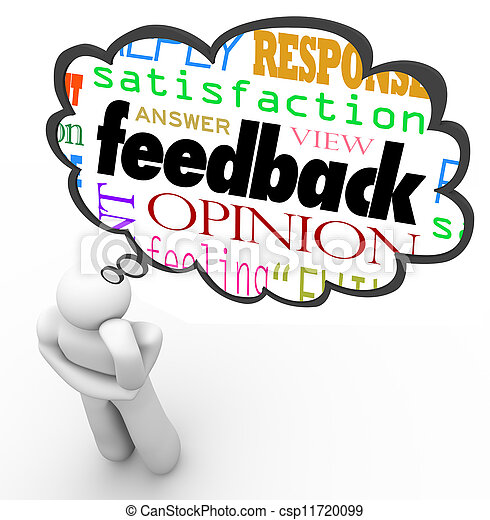 Feedback Thought Cloud Thinker Review Opinion Comment - csp11720099