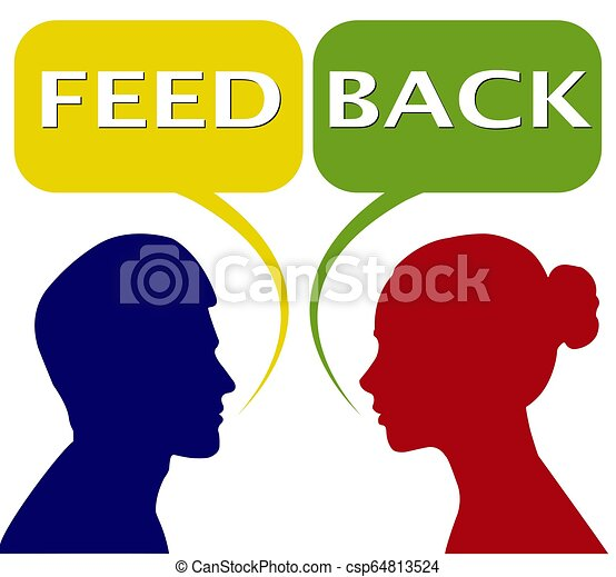 Feedback women and women, bubble for speech - csp64813524