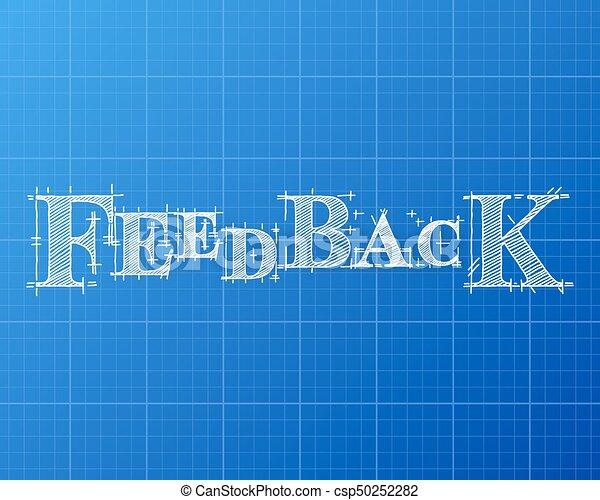 Feedback word blueprint feedback text hand drawn on blueprint feedback word blueprint csp50252282 malvernweather Gallery