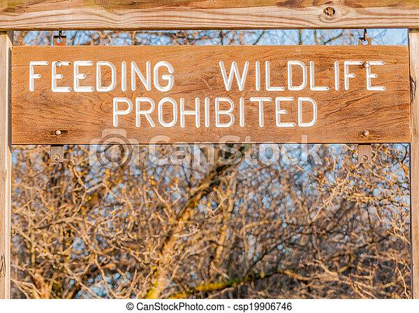 Feeding Wildlife Prohibited  - csp19906746