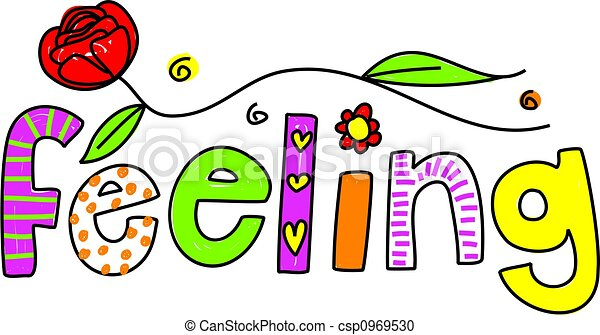 whimsical drawing of the word feeling isolated on white scary clip art free scary clip art free