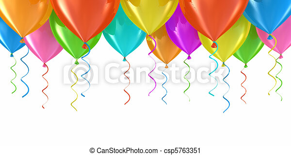 feestje, ballons - csp5763351