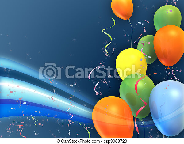 feestje, ballons - csp3083720
