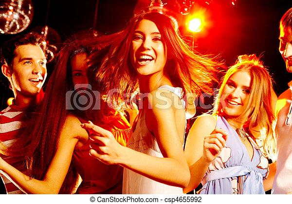 feestje, dancing - csp4655992