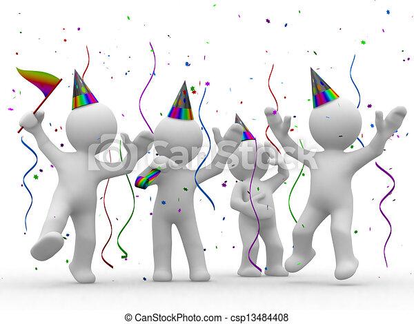 feestje, informatietechnologie, tijd - csp13484408