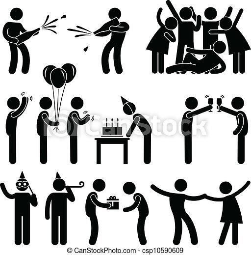 feestje, jarig, vriend, viering - csp10590609