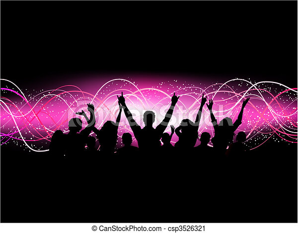 feestje, menigte - csp3526321