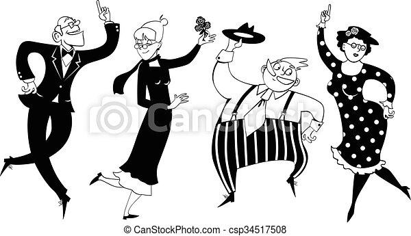 feestje, senior, dancing - csp34517508