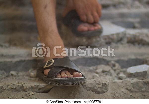 Feet in sandals - csp9057791