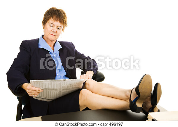 boy lady Mature business and