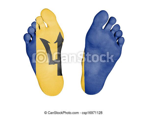 Feet with flag - csp16971128