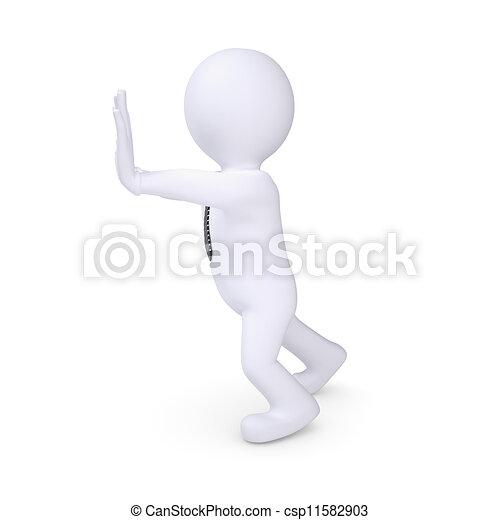 fehér, rámenős, valami, emberi - csp11582903
