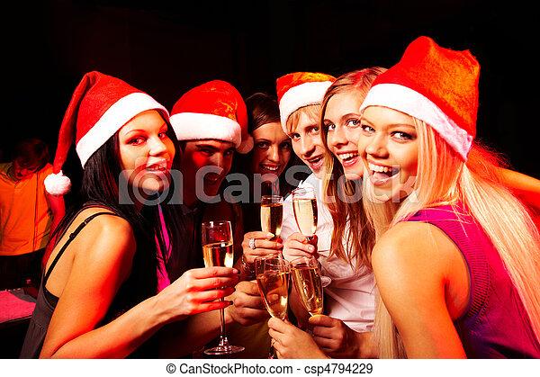 feiern von weihnachten - csp4794229