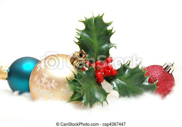 feiertagsdekorationen - csp4367447