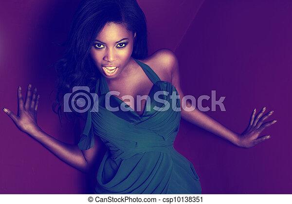 Feisty vivacious African dancer - csp10138351