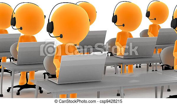 fejhallgatók, számítógépek, 3, arany, férfiak - csp9428215