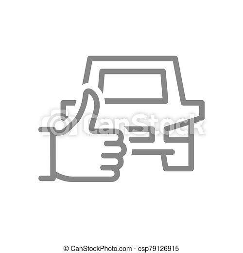 feláll, jelkép, egyenes, autó, lapozgat, szállítás, legjobb, szeret, icon., visszacsatolás, szolgáltatás, taxi - csp79126915