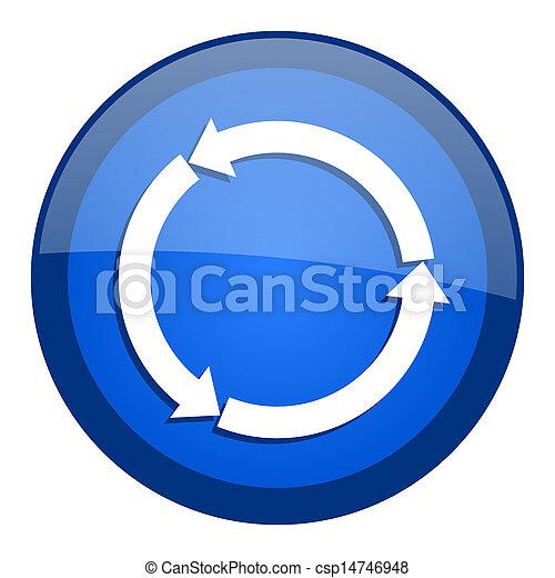 felfrissít, ikon - csp14746948