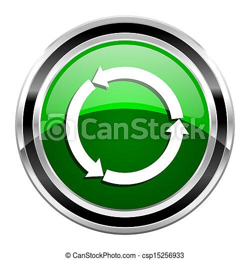 felfrissít, ikon - csp15256933