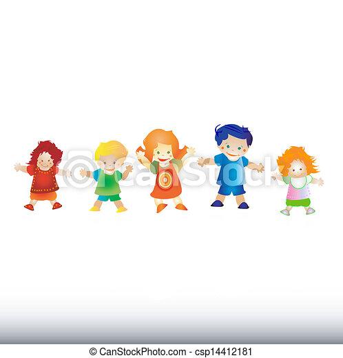 felice, bambini, gioco - csp14412181