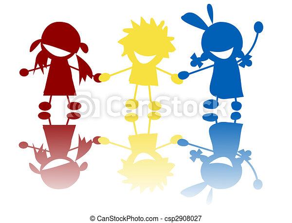 felice, bambini - csp2908027