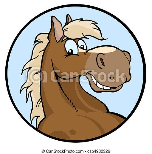 felice, illustrazione, cavallo - csp4982326