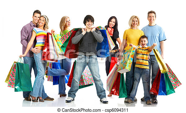 felice, persone., shopping - csp6094311