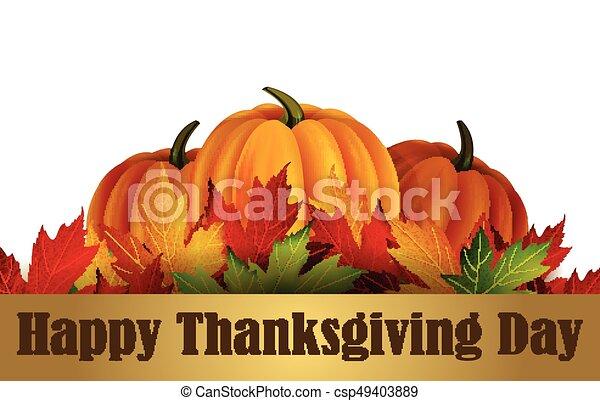 felice, ringraziamento, giorno - csp49403889