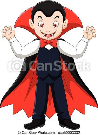 Felice vampiro cartone animato. felice vettore vampiro