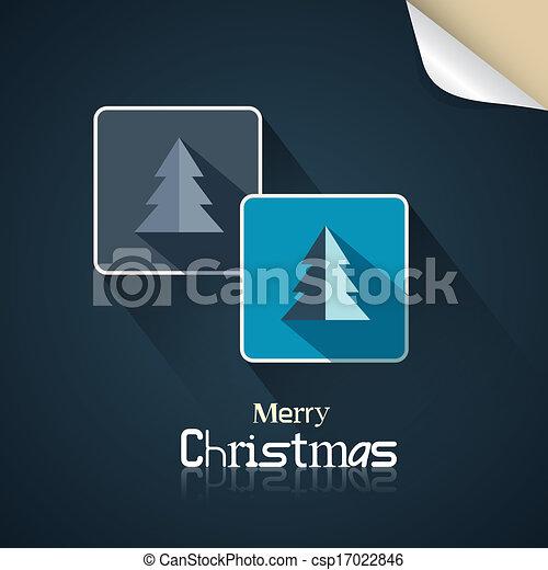 feliz, abstratos, vetorial, retro, fundo, natal - csp17022846