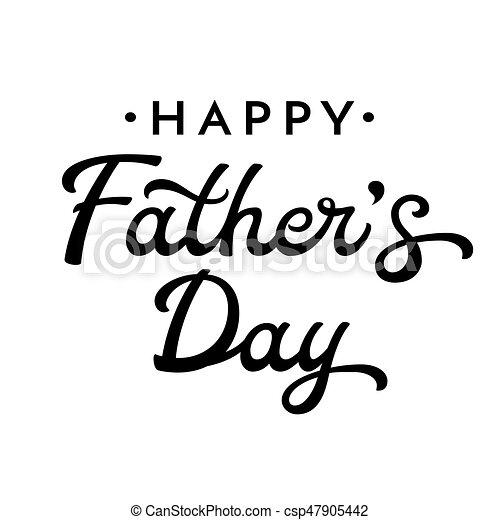 Feliz Día De Los Padres Letras Negras Aisladas En Fondo