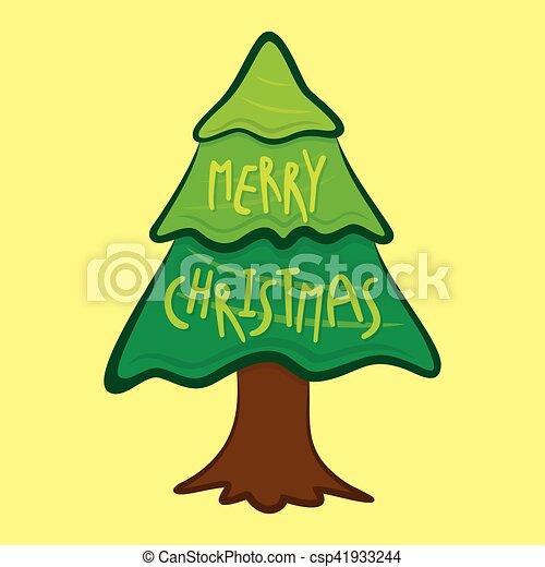 Feliz Cartaz Desenho Arvore Natal Arvore Criativo Vetorial