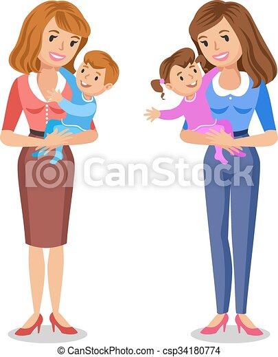 Feliz concepto familia ella madres amor familia for Concepto de la familia para ninos