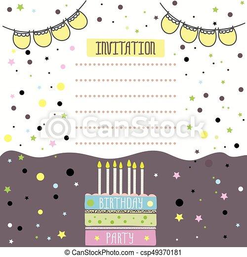 Feliz Diseño De Tarjetas De Cumpleaños Ilustración De Vectores