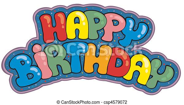 feliz cumpleaños, señal - csp4579072
