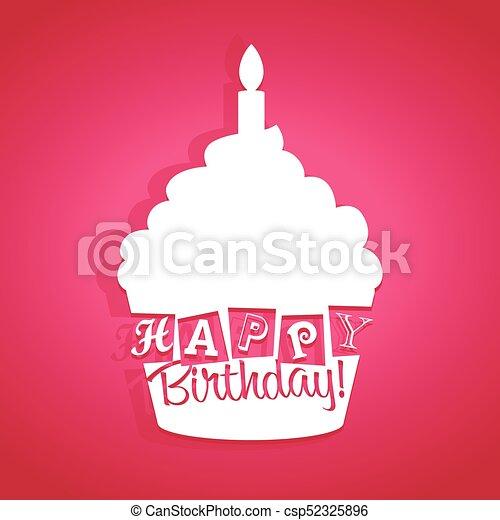Feliz tarjeta de cumpleaños - csp52325896