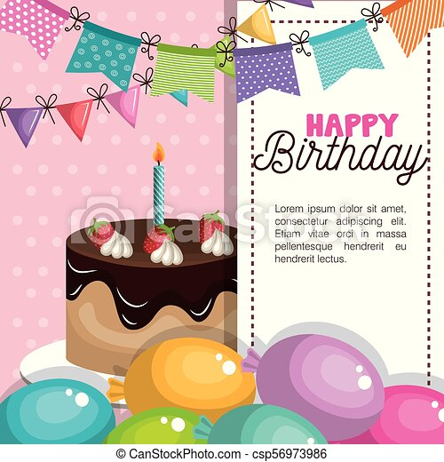 Feliz Invitación De Cumpleaños Feliz Tarjeta De Cumpleaños