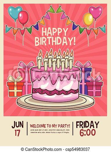 Feliz Invitación De Cumpleaños Feliz Cumpleaños Niños