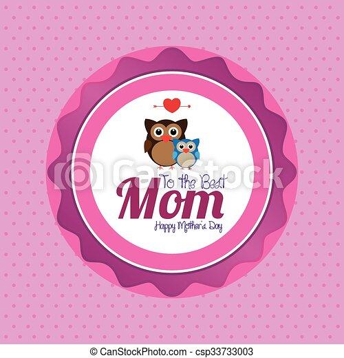Feliz Dia Madre Coloreado Madre Texto Ilustracion Clipart