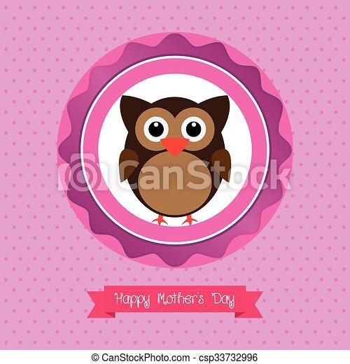 Feliz Dia Madre Coloreado Madre Texto Ilustracion Vectores
