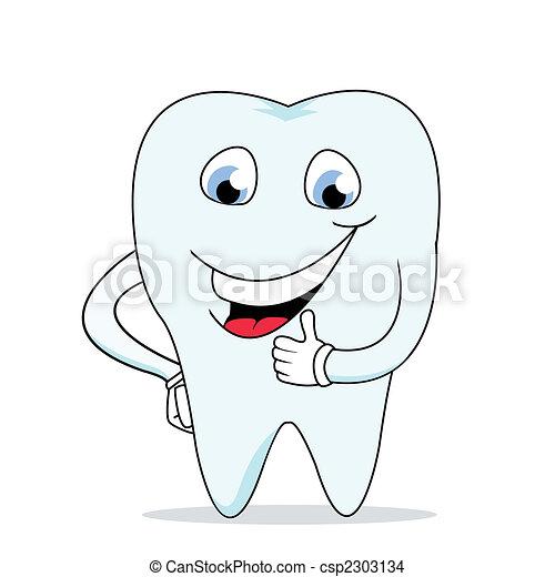 feliz, dente - csp2303134