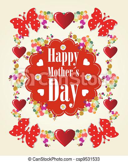 feliz, dia, fundo, mães - csp9531533