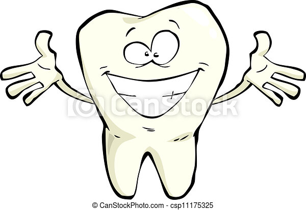 Un diente feliz - csp11175325
