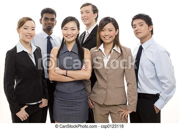 feliz, equipe negócio - csp0123118