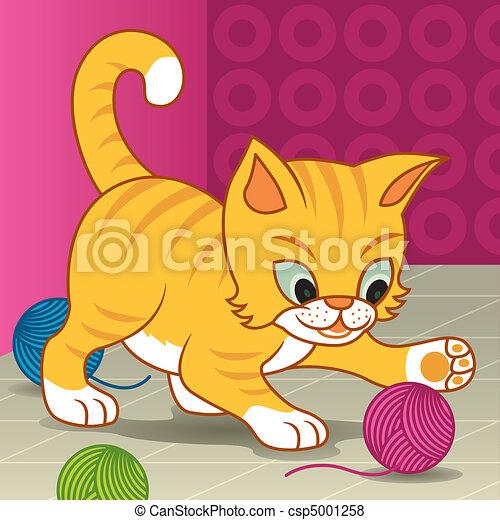 Gato feliz - csp5001258