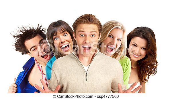 feliz, gente - csp4777560